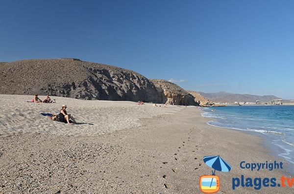 Belle plage à Carboneras