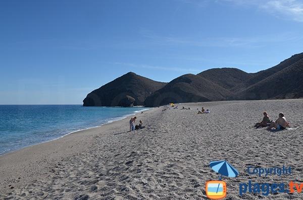 Dénivelé de la plage de Los Muertos - Andalousie