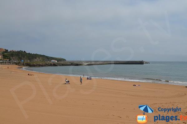 Photo de la plage de Luanco en Asturies - Espagne