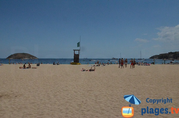 View of the islands from the beach of Magaluf