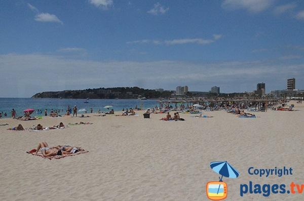 Photo of Magaluf beach in Majorca - Spain