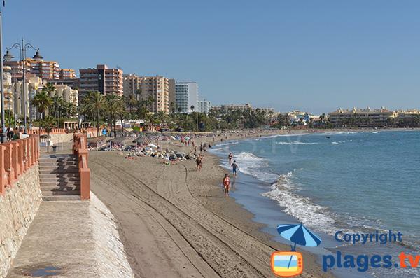 Photo de la plage de Malapesquera à Benalmadena