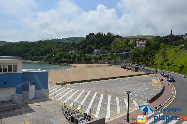 Photo de la plage du centre ville de Getaria - Pays Basque espagnol