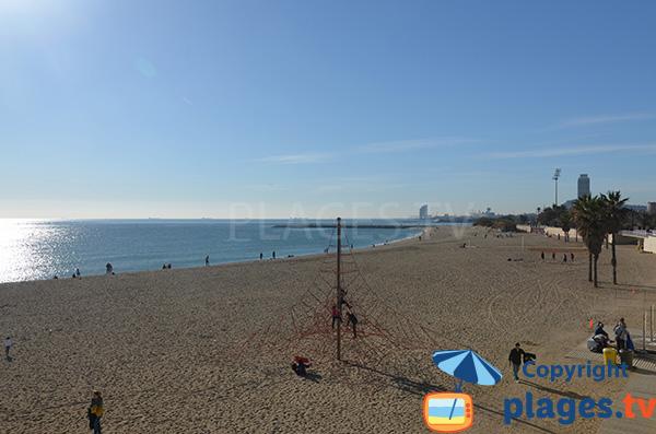 Photo de la plage de Mar Bella à Barcelone