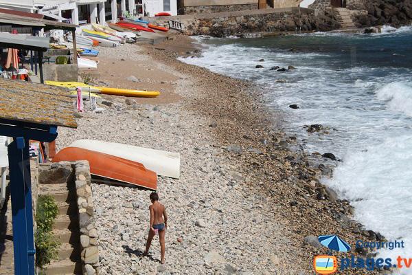 Galets de la cala de Margarida en Espagne à Palamos