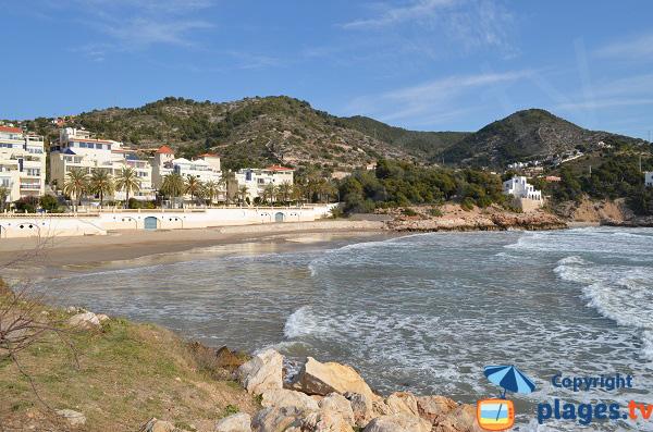Beach of Marina d'Aiguadolç beach in Sitges - Spain