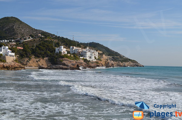 Beach at the exit of Sitges