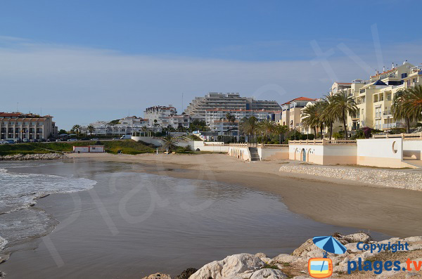 Marina d'Aiguadolç beach in Sitges - Spain