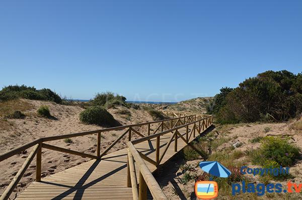 Accès à la plage de Los Canos - Espagne