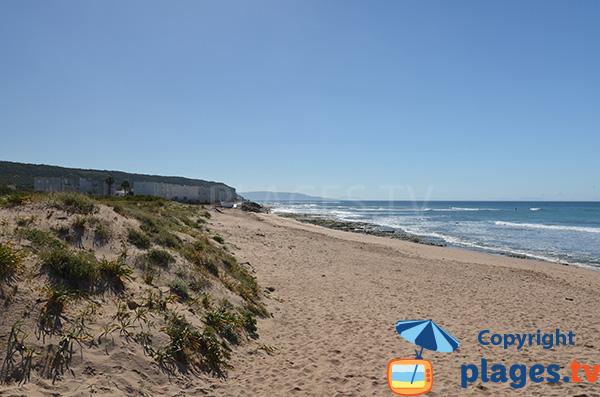 Extrémité de la plage de Los Canos - Andalousie