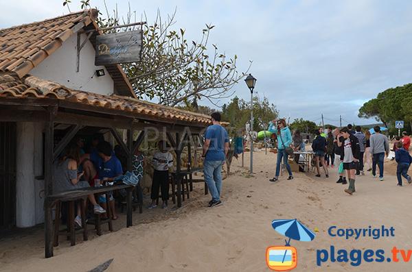 Bar sur la plage du phare de Los Canos de Meca - Andalousie
