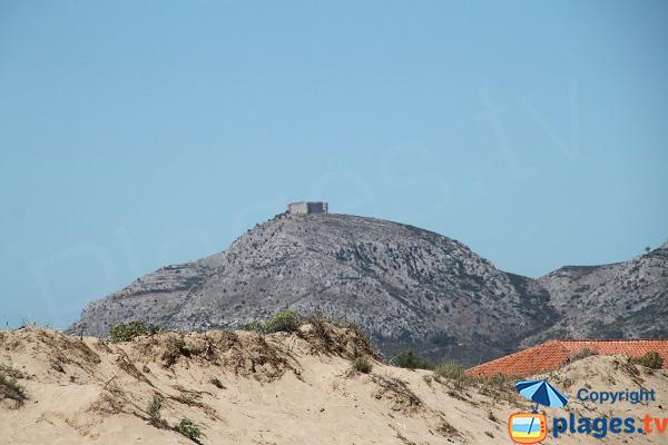 Vue sur le chateau de Montgri depuis Mas Pinell