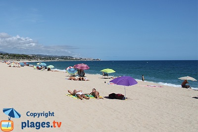 Beach of Mataro in Spain