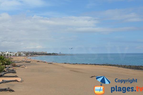 Plage de Matagorda à Puerto del Carmen - Lanzarote