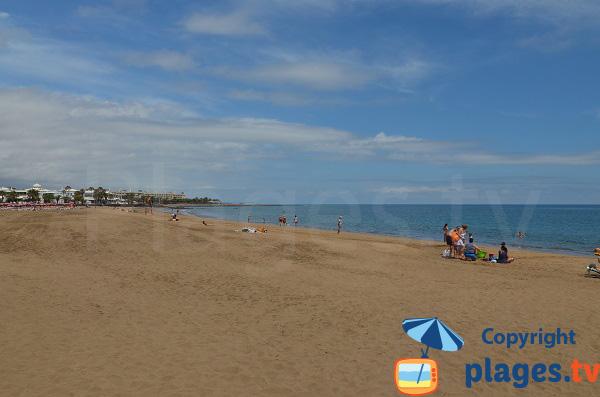 Partie centrale de la plage nord de Puerto del Carmen