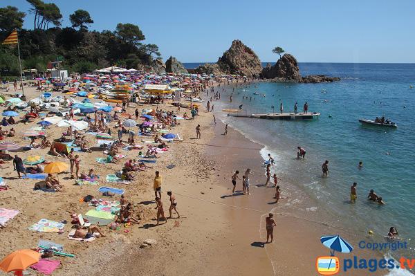 Photo de la plage de Mar Menuda à Tossa de Mar