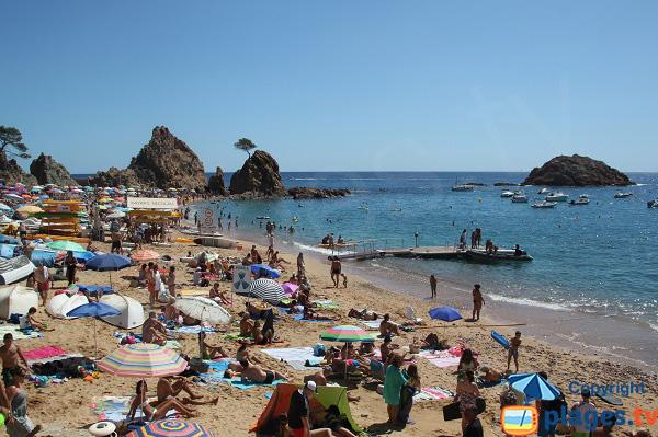 Photo de la plage de Menuda à Tossa de Mar sur la Costa Brava