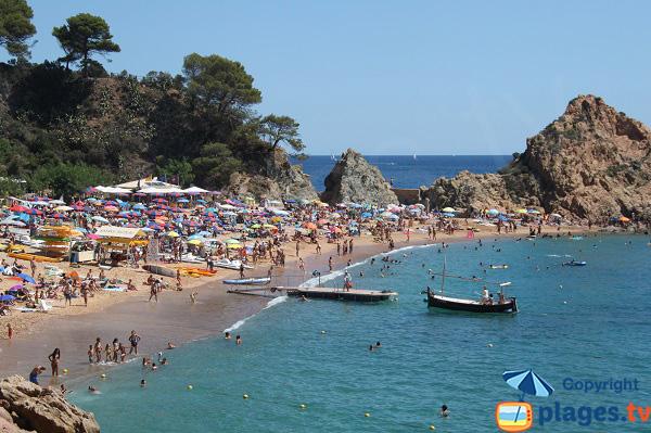 Plus belle crique de Tossa de Mar en Espagne