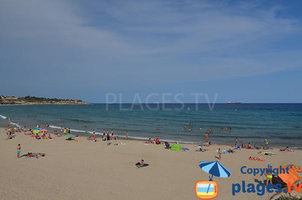 Miracle beach of Tarragona in Spain