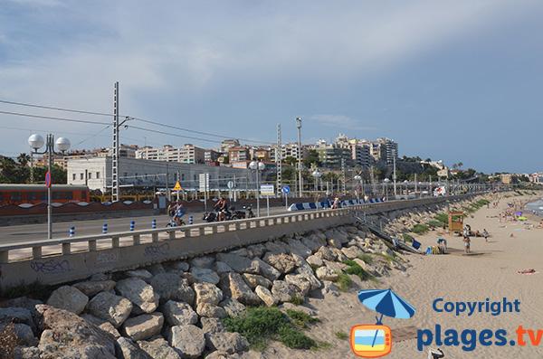 Beach in the city center of Tarragona