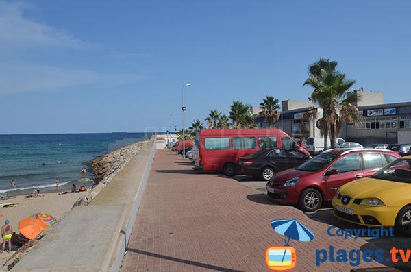 Beach near the port of Tarragona - Spain