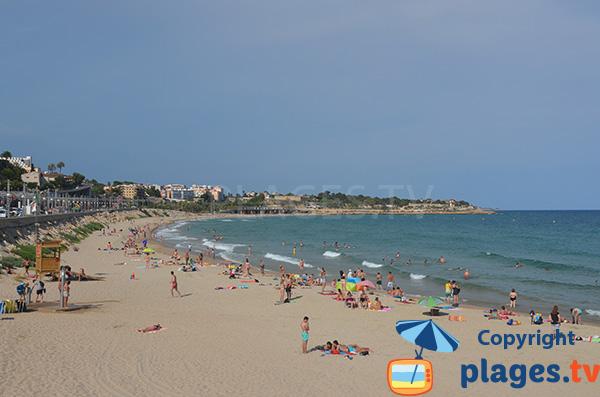 Supervised beach in Tarragona - Spain