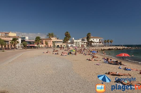 Photo de la plage de Molinar à Palma de Majorque