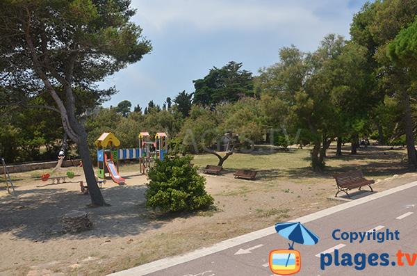 Jeux pour les enfants à Sant Martí d'Empúries