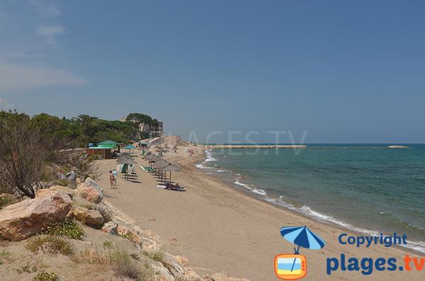 Belle plage à Sant Martí d'Empúries
