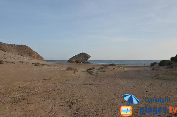 Fond de la plage de Monsul - Andalousie