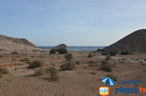 Photo de la plage de Monsul à San Jose - Espagne