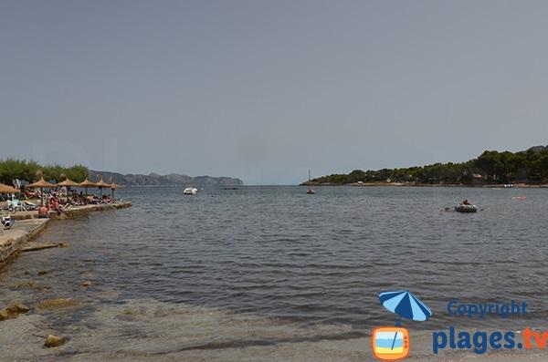 Vue depuis la plage de Morer Vermell à Alcudia