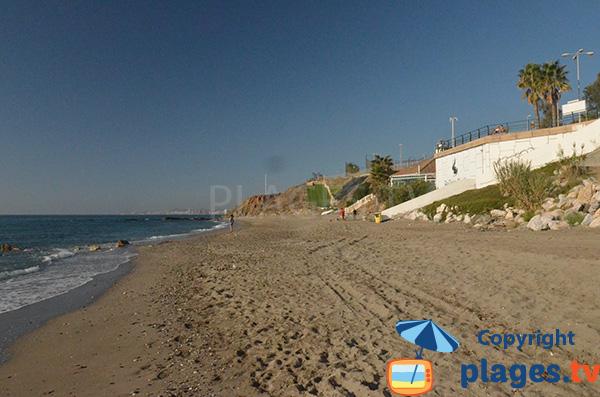 Plage de Morera et début de la plage de Perla - Benalmadena