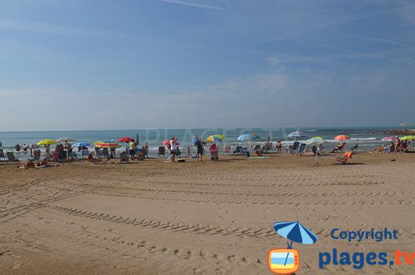 Photo de la plage du centre de Benicarlo - Espagne