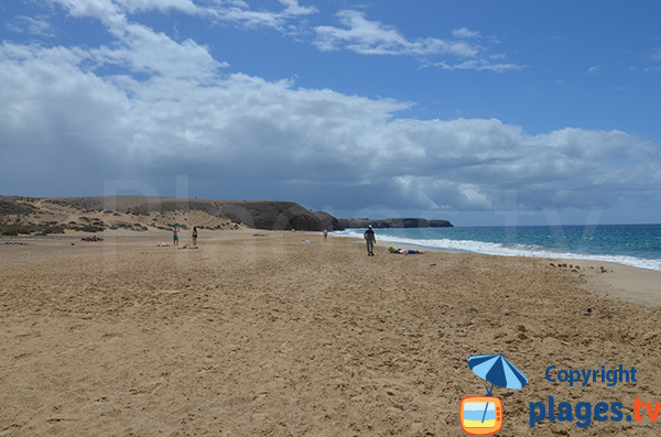 Mujeres beach with view on Papagayo - Lanzarote - Playa-Blanca
