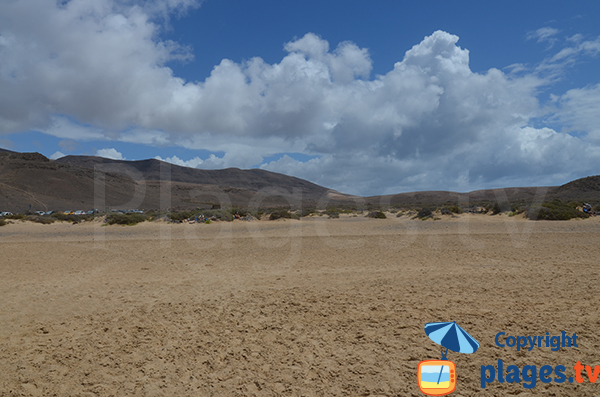 Environment of volcanoes of the beach of Mujeres in Lanzarote