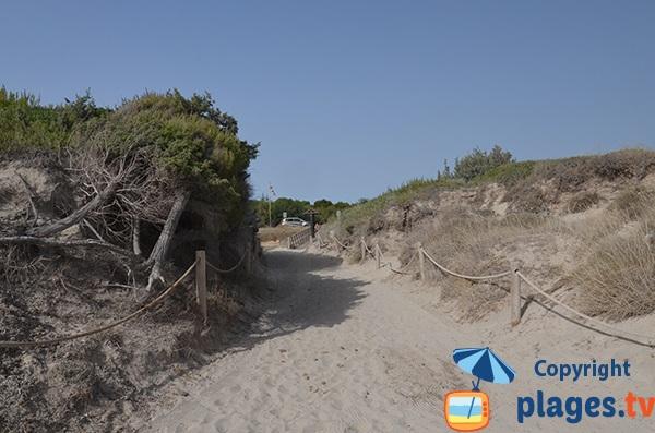 Accès à la plage du Muro secteur Joglars