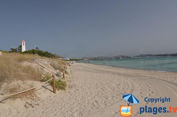 Photo de la plage de Muro - secteur Joglars - Majorque