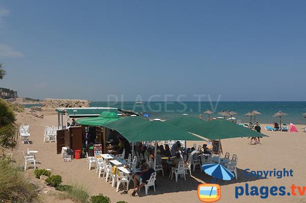 Paillote sur la plage des Muscleres à l'Escala - Espagne