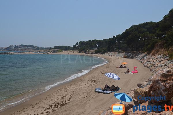 Photo de la plage des Muscleres à l'Escala - Espagne