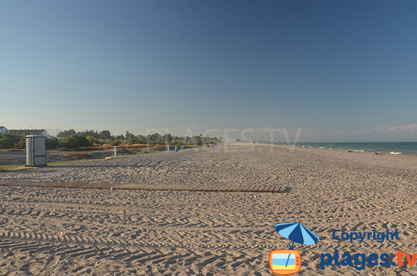 Environnement de la plage naturiste au nord de Valence - Almarda