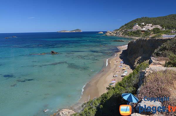 Photo de la plage naturiste d'Es Figueral à Ibiza