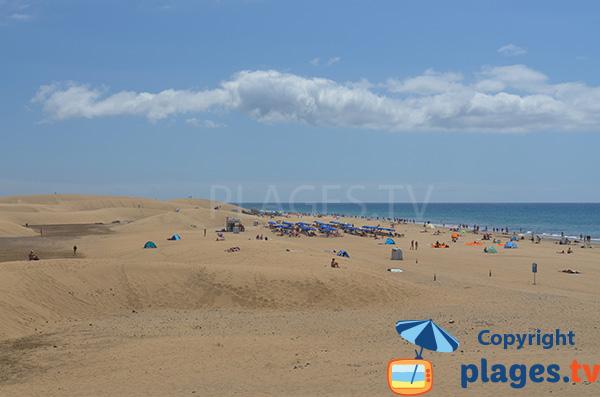 Photo de la plage naturiste de Maspalomas - Grande Canarie