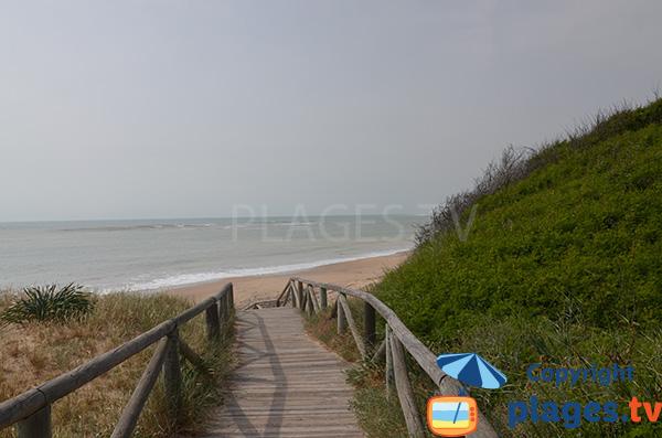Accès à la plage naturiste de Punta Candor en Andalousie