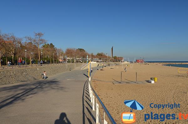Accès pour les personnes à mobilité réduite - Plage de Nova Icaria - Barcelone