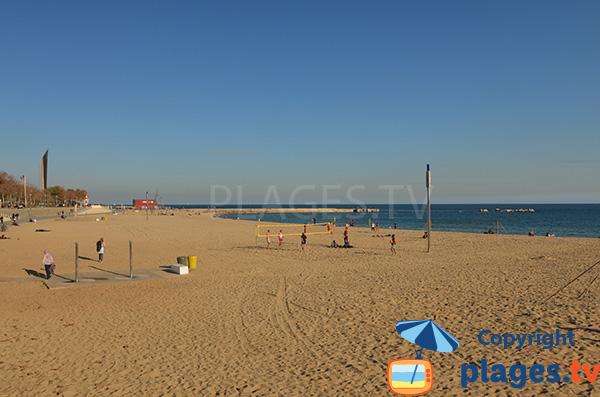 Photo de la plage de Nova Icaria à Barcelone