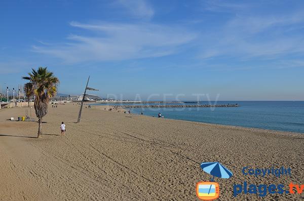 Photo de la plage de Nova Mar Bella à Barcelone