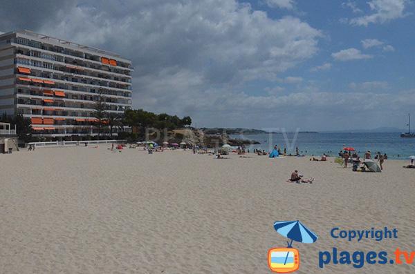 Extrémité de la plage de Palmanova - Majorque