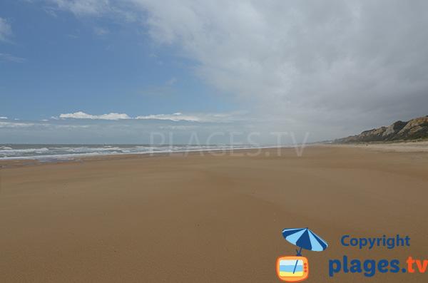 Grande plage sauvage à Mazagon - Espagne