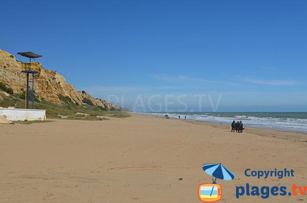Photo de la plage de Parador en Andalousie - Mazagon